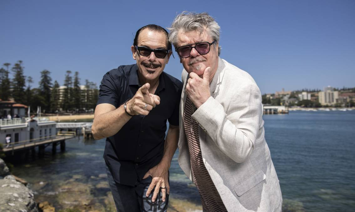 BEACHES BOYS: INXS' Tim Farriss and Kirk Pengilly are still living in the northern beaches. Picture: Simon Bennett